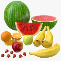 real fruits 3D model