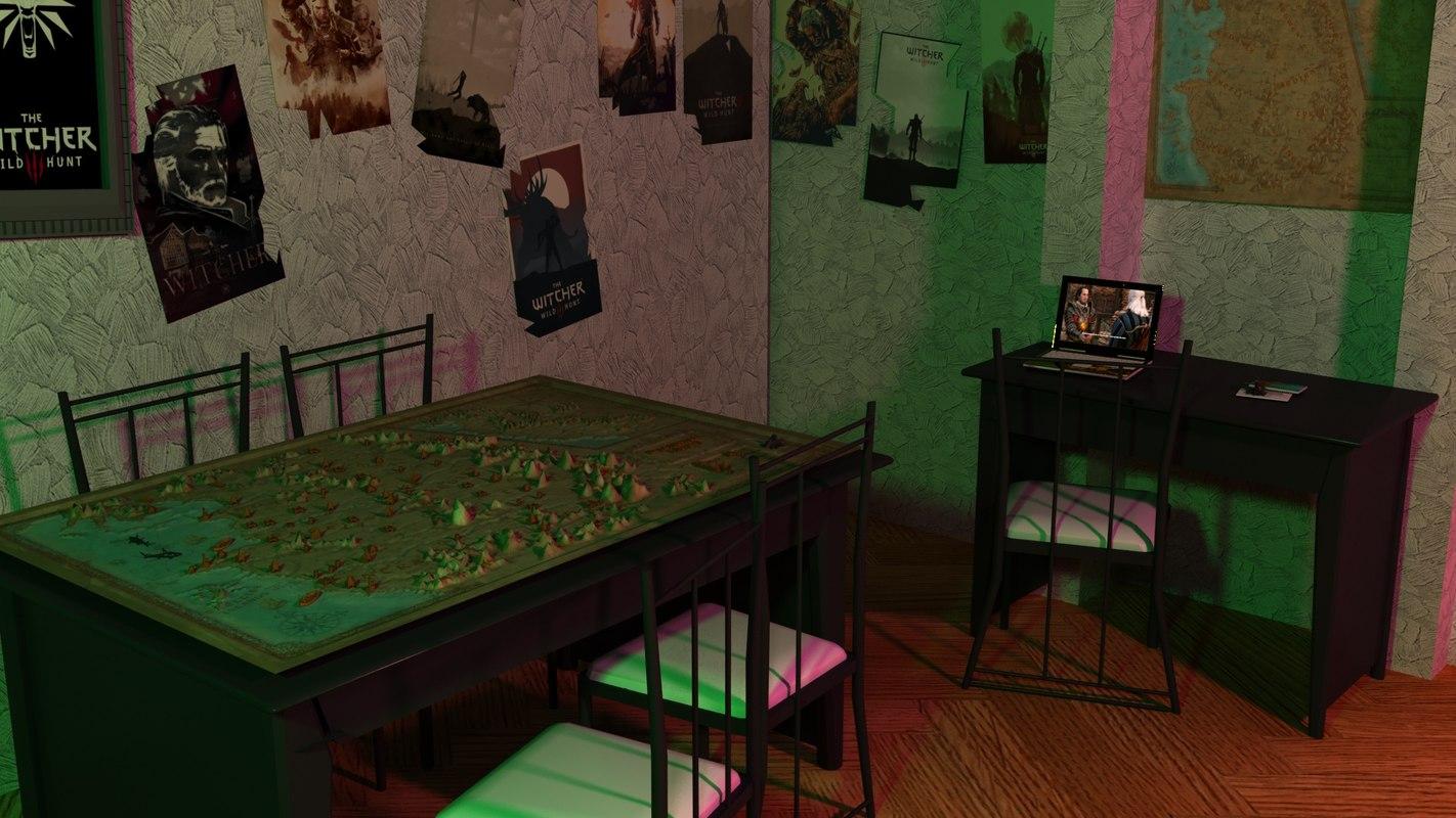 3D room witcher