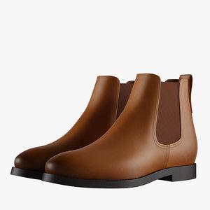 3D colors chelsea boots model
