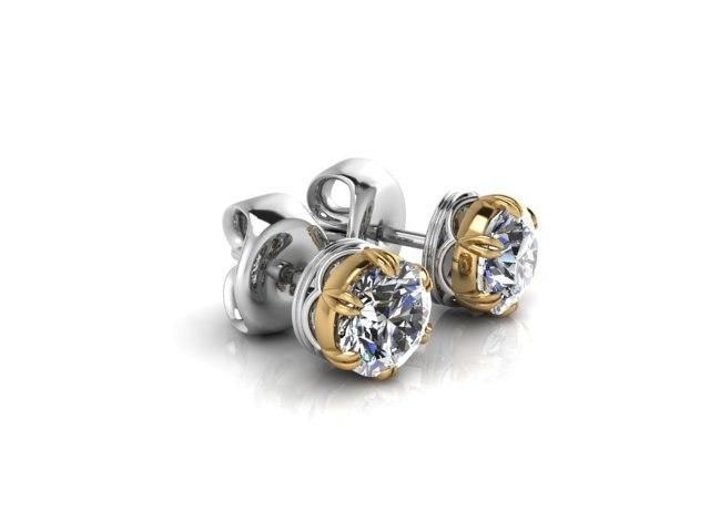 simple earrings 3D model