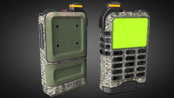 military versatile handheld 3D model
