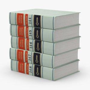 law-books---set-1 3D