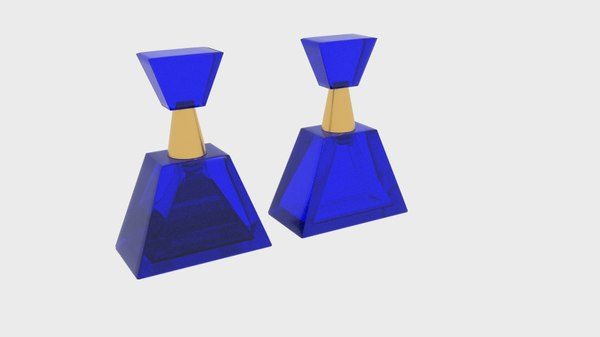 3D perfume bottle triangle model