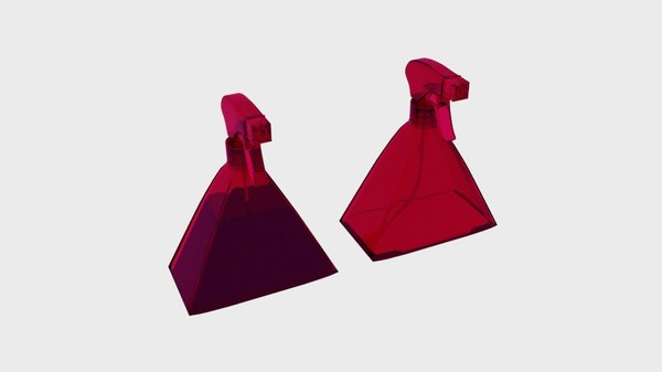 bottle spray triangle model