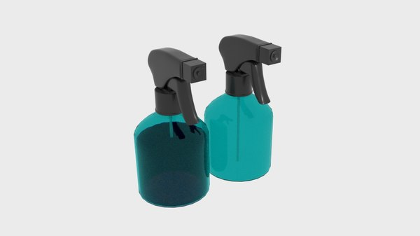 spray transparent bottle 3D model