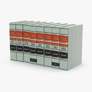 3D law-books---set-2