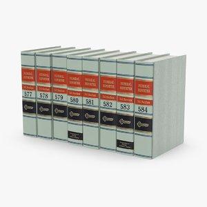 3D law-books---set-2