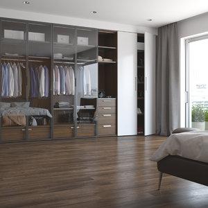 realistic bedroom interior apartments 3D