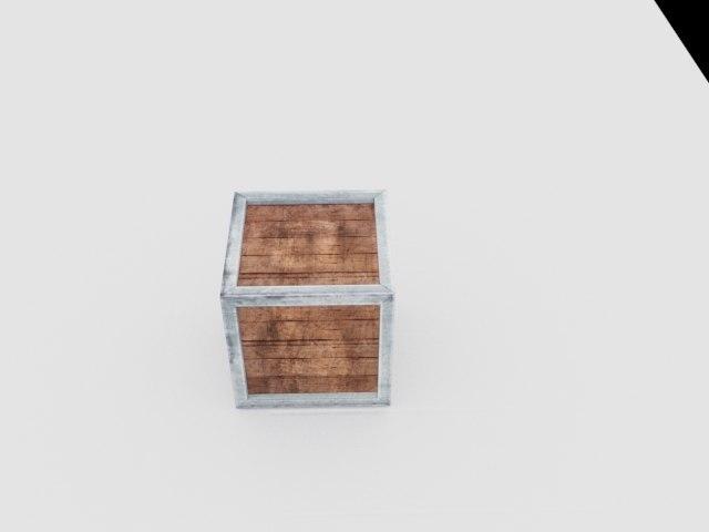 3D model crates