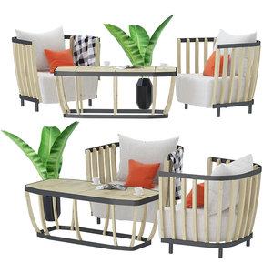 swing armchair coffee model