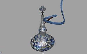 3D smoke hookah nargile