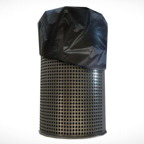 3D dustbin unity unreal model