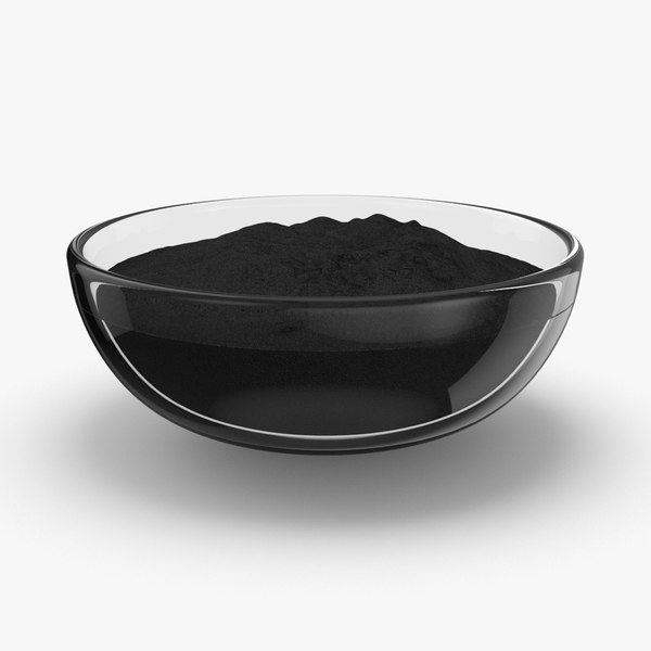 3D powdered-charcoal---bowl model