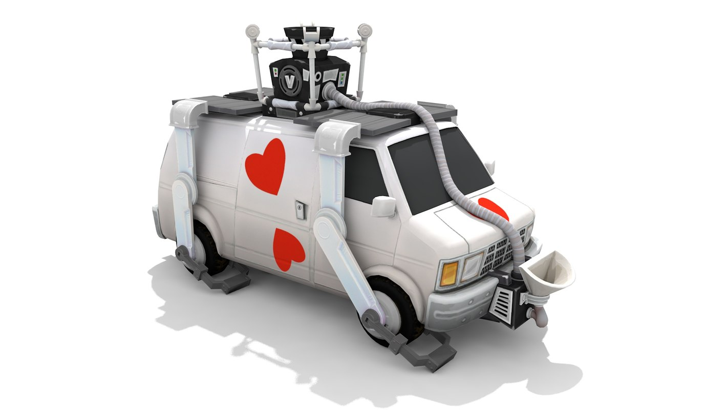 fortnite heist van 3D model