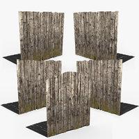 fence wood 3D