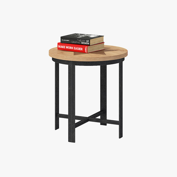 small table books 3D model