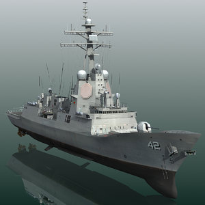 3D model hmas sydney 42 class destroyer