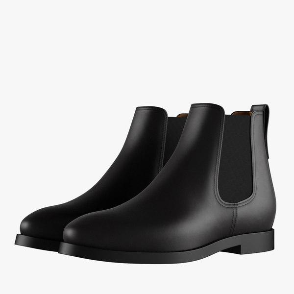 3D chelsea boots