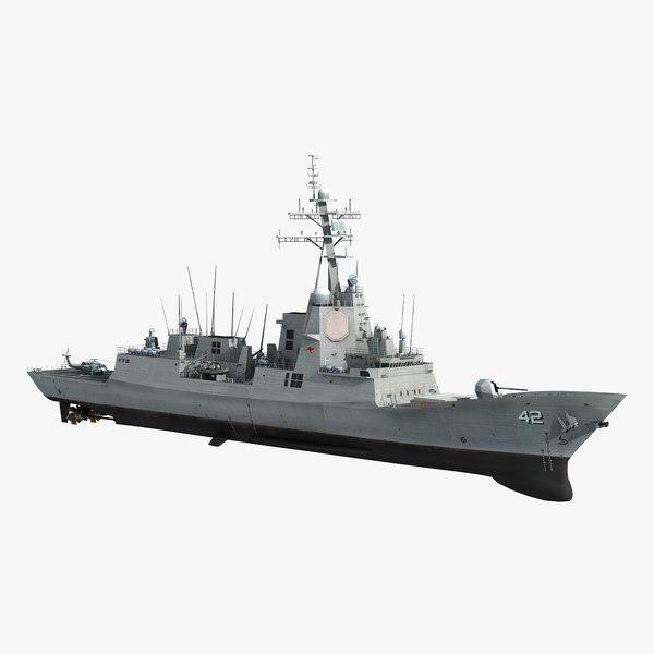 hmas sydney 42 class destroyer 3D