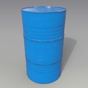 barrel oil blue 3D model