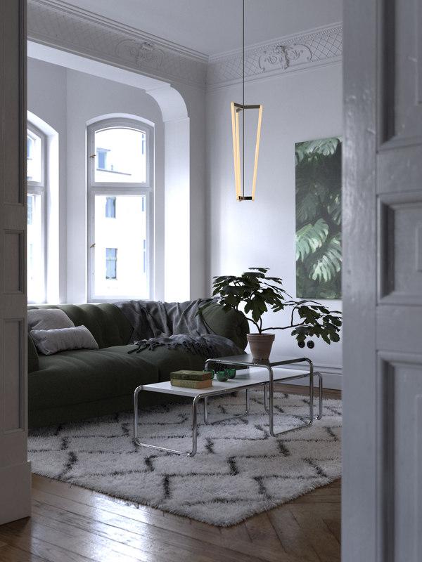 3D environment classic apartment