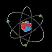 Atom with Neutrons, Protons, Electrons, Nucleus