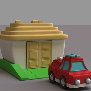 car garage 3D model