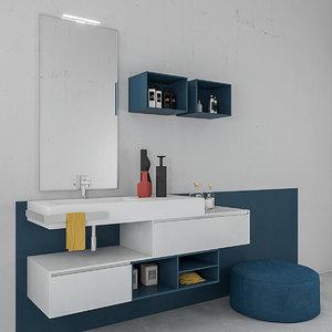 bathroom furniture set arcom 3D model