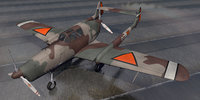 3D fokker d-23 d-xxiii model