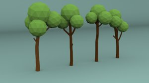 3D pines trees model