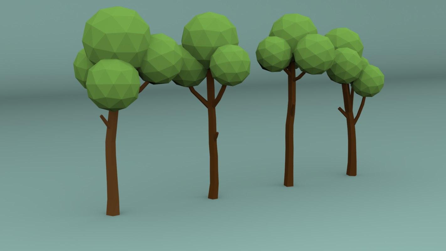 3D pines trees model