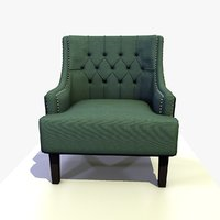Traditional Fabric Chesterfield Armchair