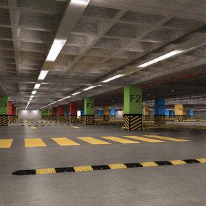 multi parking garage 3D model