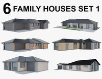 Family Houses Set 1