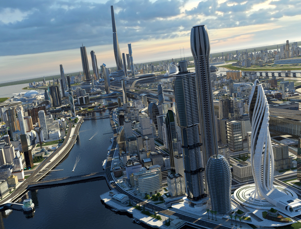 3D scene city