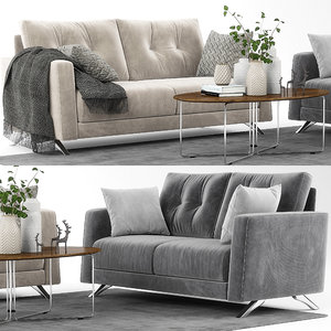 3D model bari sofa set fama