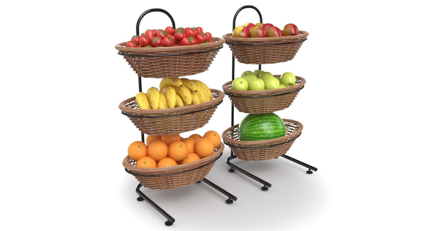 3D real fruit display model
