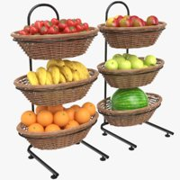 3D real fruit display model