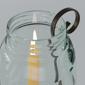 glass candle 3D model