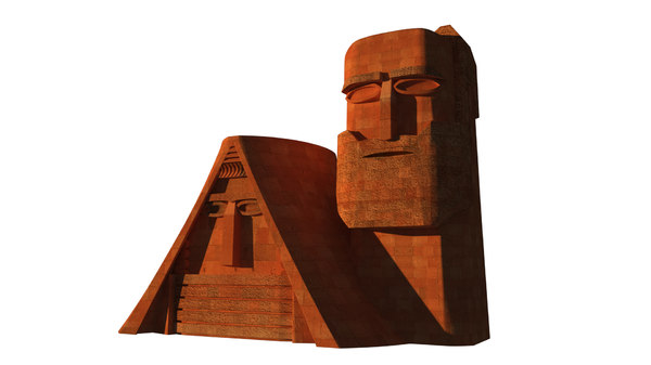 mountains monument stepanakert 3D