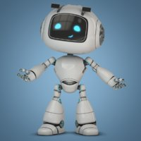 cartoon robot bot 3D model