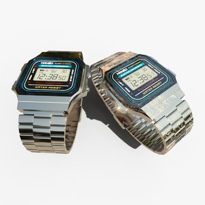 3D digital wristwatch