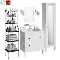 bathroom furniture ikea hemnes 3D model