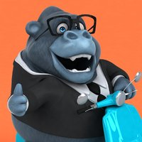 fun cartoon gorilla ! 3D model