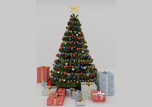 ball christmas tree winter 3D model