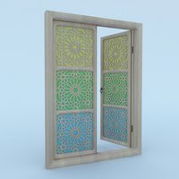 3D traditional moroccan window