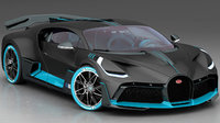 bugatti divo 2019 interior 3D model