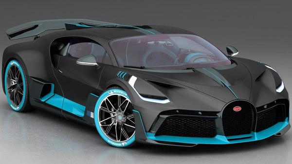 bugatti divo 2019 interior 3D model