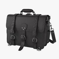 3D saddleback leather classic briefcase model