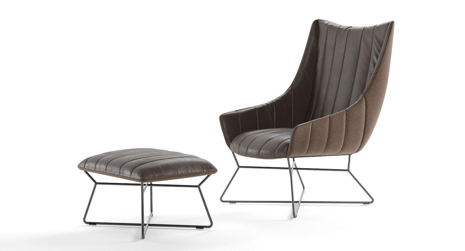 realistic freifrau rubie armchair 3D